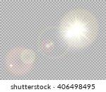transparent sunlight special... | Shutterstock .eps vector #406498495