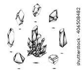 crystals   stones | Shutterstock .eps vector #406508482