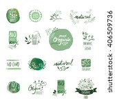 set of organic food hand drawn... | Shutterstock .eps vector #406509736