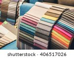 colorful upholstery fabric... | Shutterstock . vector #406517026