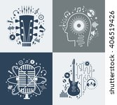 Set Of Vector Music...