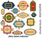 cute vintage labels collection | Shutterstock .eps vector #406526398