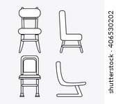 set of black and white chairs ... | Shutterstock .eps vector #406530202