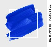 logo art brush paint template.... | Shutterstock .eps vector #406536502