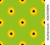 yellow sunflower on lime...   Shutterstock .eps vector #406544896