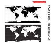 equirectangular world map... | Shutterstock .eps vector #406551928