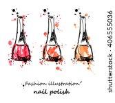 vector illustration of nail... | Shutterstock .eps vector #406555036