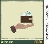wallet in hand. icon. vector... | Shutterstock .eps vector #406562782