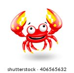 smiling red sea cartoon fun... | Shutterstock .eps vector #406565632