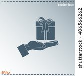 gift box and hand icon | Shutterstock .eps vector #406566262
