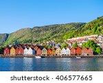 bergen  norway | Shutterstock . vector #406577665