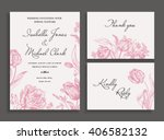vintage wedding invitation in a ... | Shutterstock .eps vector #406582132