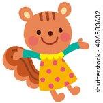 "cute animals ""girl squirrel"" | Shutterstock . vector #406583632"