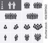 businessman icons set. team... | Shutterstock .eps vector #406589062