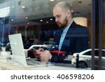 young business man leadership...   Shutterstock . vector #406598206