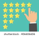 rate review and feedback... | Shutterstock .eps vector #406606606
