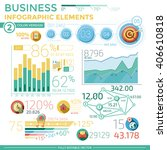 business infographic elements | Shutterstock .eps vector #406610818