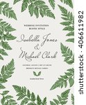 vintage wedding invitation in a ... | Shutterstock .eps vector #406611982