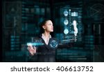 modern technologies in use | Shutterstock . vector #406613752