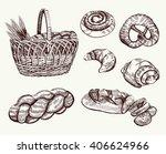 hand drawn bakery illustration | Shutterstock .eps vector #406624966