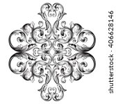 vintage baroque frame scroll...   Shutterstock .eps vector #406628146