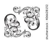 vintage baroque frame scroll... | Shutterstock .eps vector #406628152