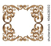 vintage baroque frame scroll... | Shutterstock .eps vector #406628332