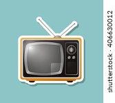 television icon design  vector... | Shutterstock .eps vector #406630012