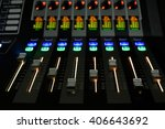 sound control with led backlight | Shutterstock . vector #406643692