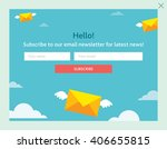 vector template for email... | Shutterstock .eps vector #406655815