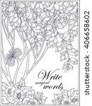 decorative flowers  birds and... | Shutterstock .eps vector #406658602