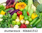 asian vegetables background.... | Shutterstock . vector #406661512