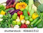 asian vegetables background.... | Shutterstock . vector #406661512