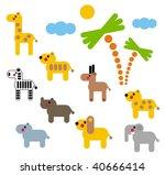 set of african animals in...   Shutterstock .eps vector #40666414