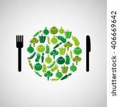 healthy food design  | Shutterstock .eps vector #406669642