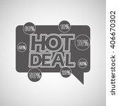 hot deals design  | Shutterstock .eps vector #406670302