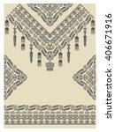 design neckline  sleeves and... | Shutterstock .eps vector #406671916