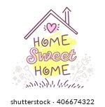 vector illustration of home... | Shutterstock .eps vector #406674322