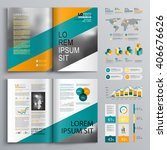 business brochure template... | Shutterstock .eps vector #406676626