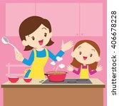 vector illustration of a mother ... | Shutterstock .eps vector #406678228