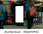 blank outdoor advertising bus... | Shutterstock . vector #406693942