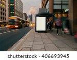 blank outdoor advertising bus... | Shutterstock . vector #406693945