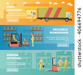 logistic and delivery service... | Shutterstock .eps vector #406694776