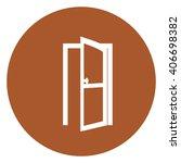 brown circle door open...   Shutterstock . vector #406698382