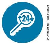 blue circle 24 hour locksmith... | Shutterstock . vector #406698505