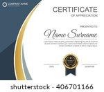 vector certificate template. | Shutterstock .eps vector #406701166