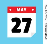 calendar icon flat may 27 | Shutterstock .eps vector #406701742