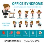 office syndrome. health care... | Shutterstock .eps vector #406702198