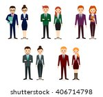 male and female people icons.... | Shutterstock .eps vector #406714798