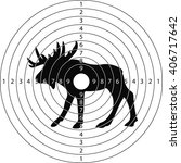 target moose for the shooting...   Shutterstock .eps vector #406717642